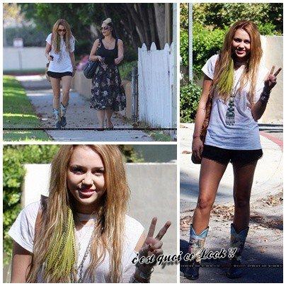 10 octobre , Miley Cyrus avec une amie à Studio City