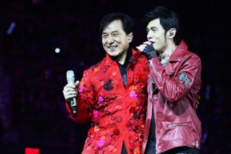 Avec 周杰倫 Jay Chou à mon Concert de paix amour amitié