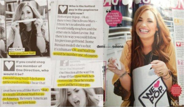 "Demi Lovato : "" J'aime beaucoup Niall Horan"""