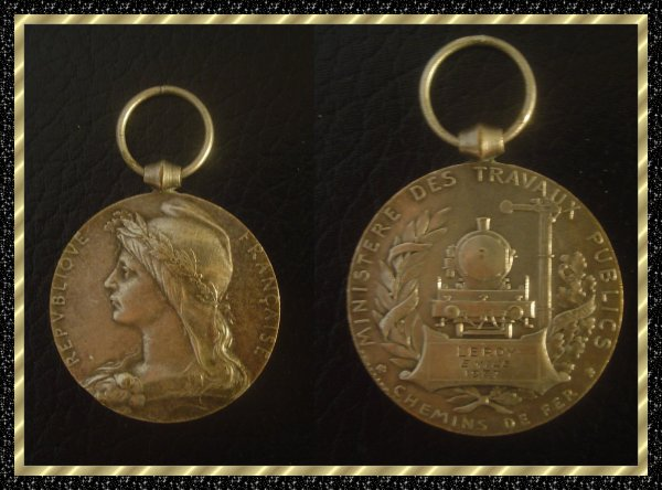 ۞ Médaille  en bronze des Chemins de Fer, 1937 ۞
