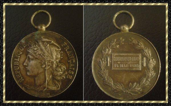 ۞ Médaille française, 1893 ۞