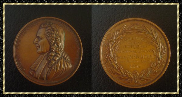 ۞ Médaille en cuivre représentant Montyon, 1886 ۞