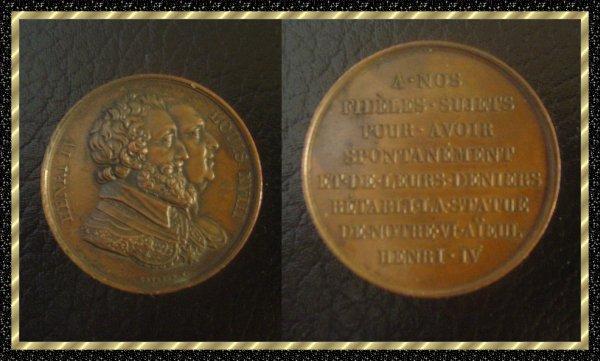 ۞ Médaille Henri IV et Louis XVIII ۞