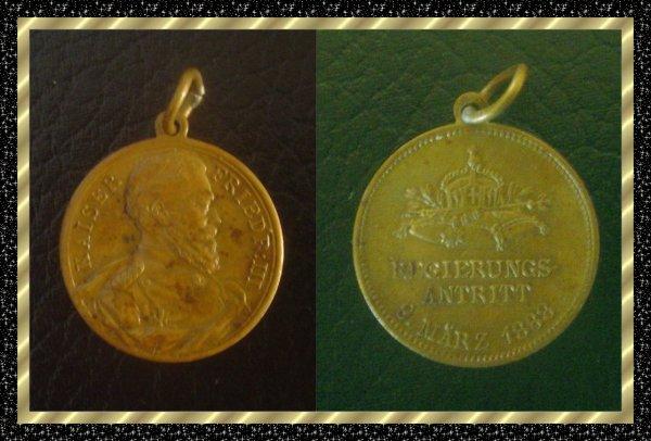 ۞ Médaille allemande du Kaiser Friedrich III, 1888 ۞