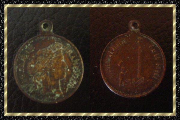 ۞ Petite médaille française du XIXème siècle ۞