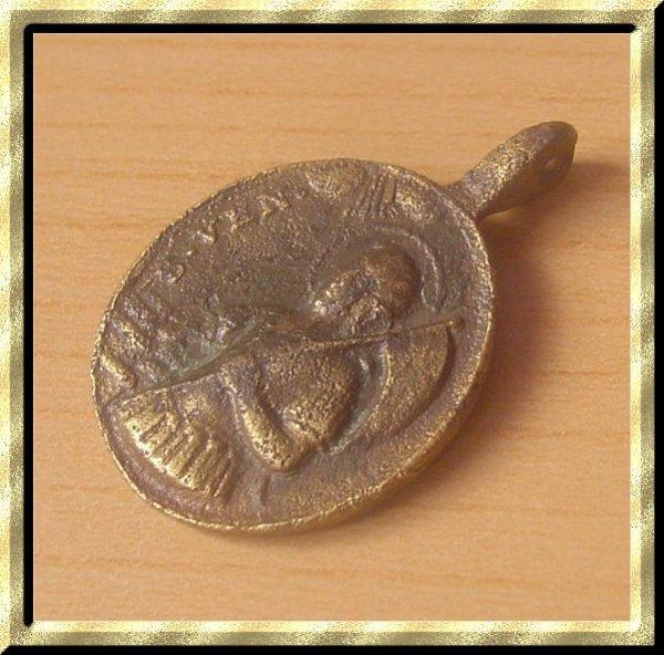 ۞ Médaille religieuse du XVII / XVIIIème siècle, Saint Venance Fortunat ۞