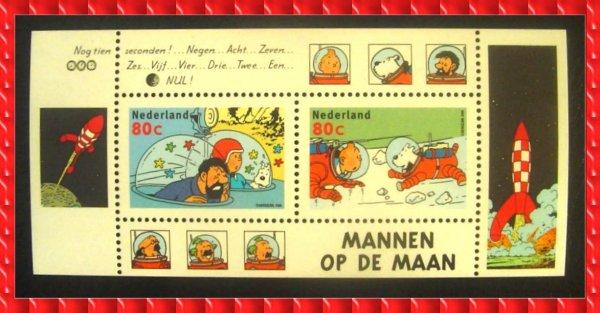 ۞ Bloc-Feuillet : série Tintin Objecti Lune, 1999 ۞