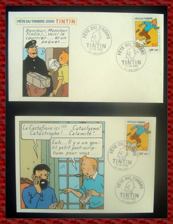 ۞ Enveloppe de la Fête du Timbre 2000 Tintin, 2000 ۞