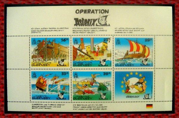 ۞ Bloc-Feuillet Astérix, 1992 : Opération Astérix Guernsey ۞