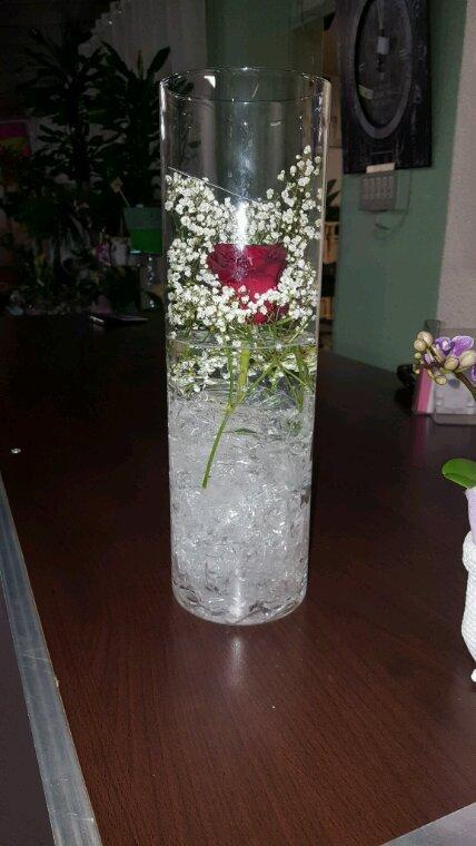composition de vase en verre