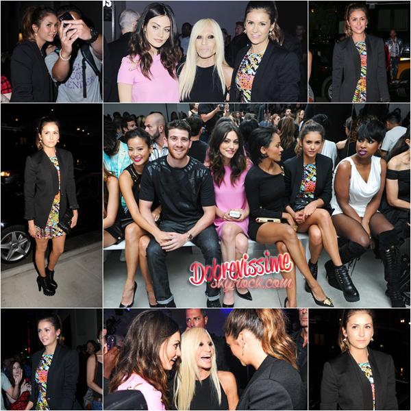 07.09.14 : Nina était présente au défilé de Versace lors de la Fashion Week