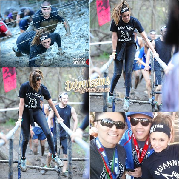 06.12.14 :Reebok Spartan Race à Malibu ! Nina était présente aux côtés de Chris Wook lors de cette course d'obstacles la plus importante au monde. On peut voir qu'elle s'y donne à fond !