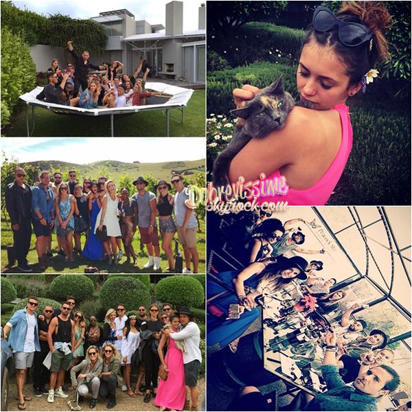 02.01.15 :Vacances de Nina en Nouvelle Zélande ! Nina a passé ses vacances d'hiver en Nouvelle Zélande, découvrez les photos d'elle et ses amis lors de ce voyage !