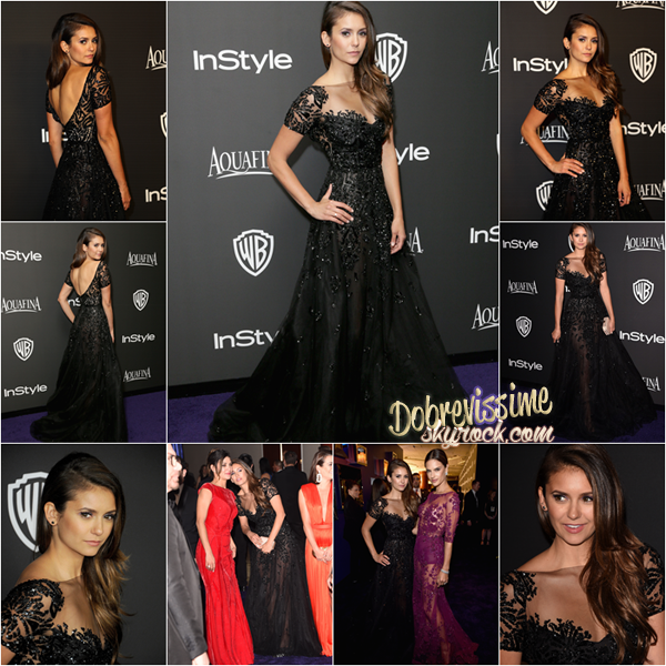 11.01.15 : Nina présente aux Golden Globes 2015 ! Nina était présente aux Golden Globes aux côtés de son amie Jessica Szorh et Lea Michele entre autres. Sa robe est un top, elle rend très chic et lui va a merveille ainsi que la coiffure et le maquillage !