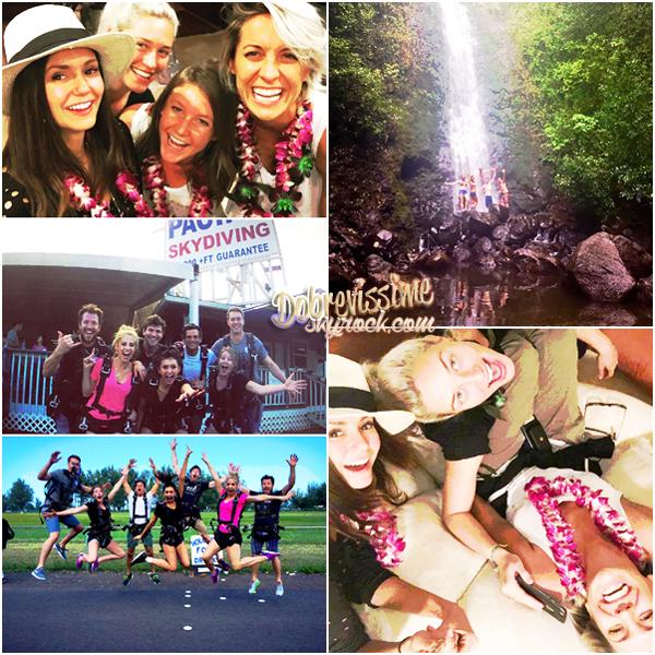 02.01.16 : Nina en vacances à Hawaï ! Photos personnelles de Nina et ses amis en vacances à Hawaï. Au programme visite de l'île, saut en parachute et surtout beaucoup de fun !