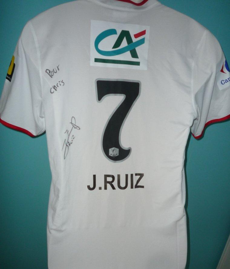 MAILLOT DU LOSC porté par John RUIZ en coupe de FRANCE Contre RENNES saison 2013-2014