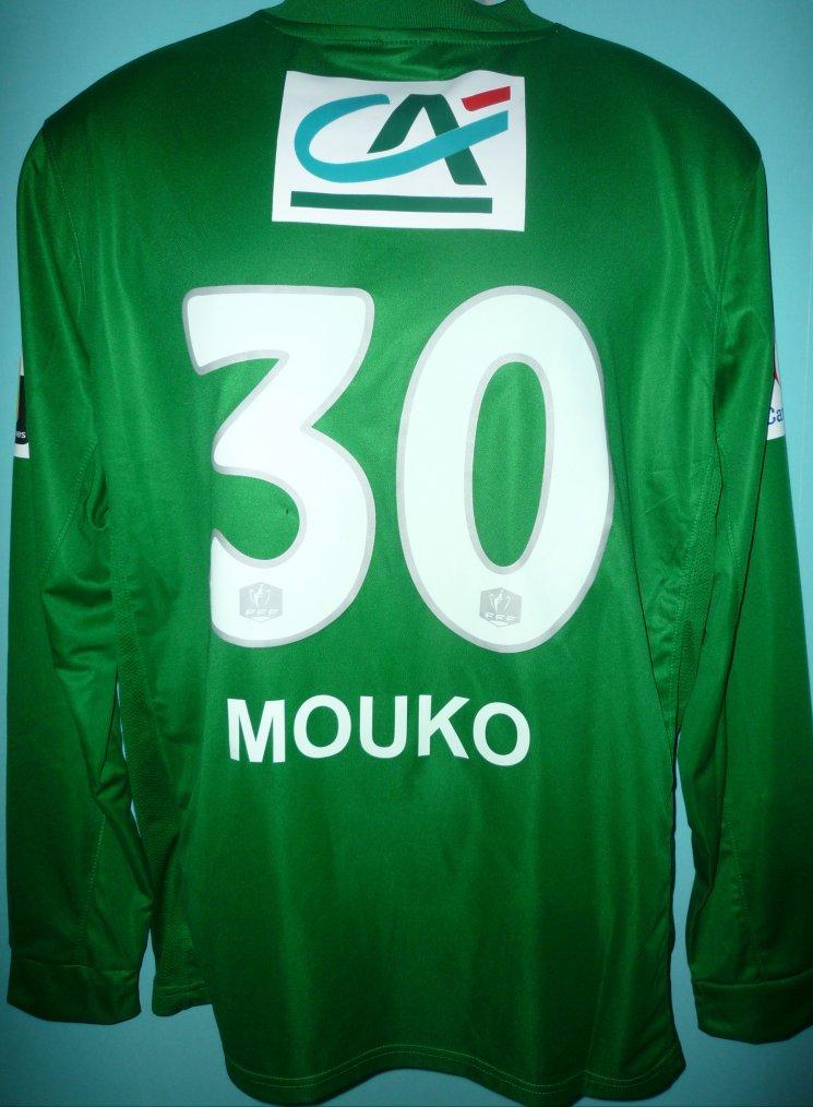 MAILLOT DU LOSC porté par Barel MOUKO en coupe de FRANCE Contre RENNES saison 2013-2014