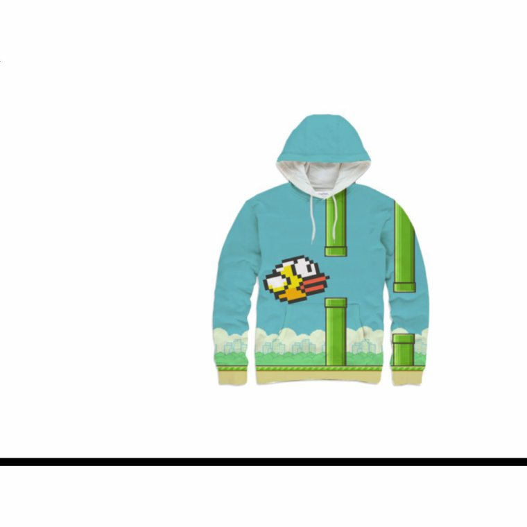 FlappyBird Hoodie (by Miss Sadique