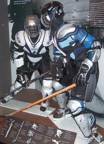 Materiel de hockey ; joueurs