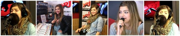 Caroline en studio de Hit Music Only en compagnie de Wendy