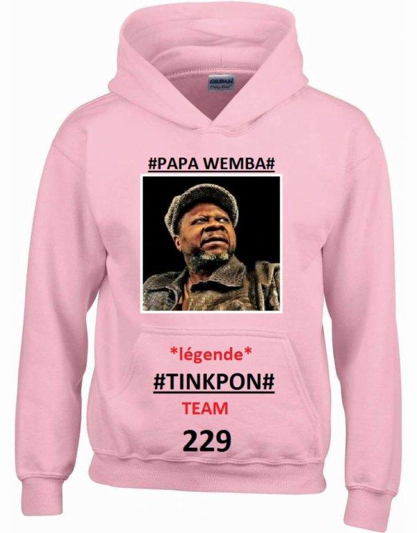 Tinkpon Kainfri Wear HOMMAGE A PAPA WEMBA / Édition spéciale de TINKPON KAINFRI WEAR/ avril 2016 DISPONIBLE EN PULL TEE-SHIRT ET DEBARDEUR
