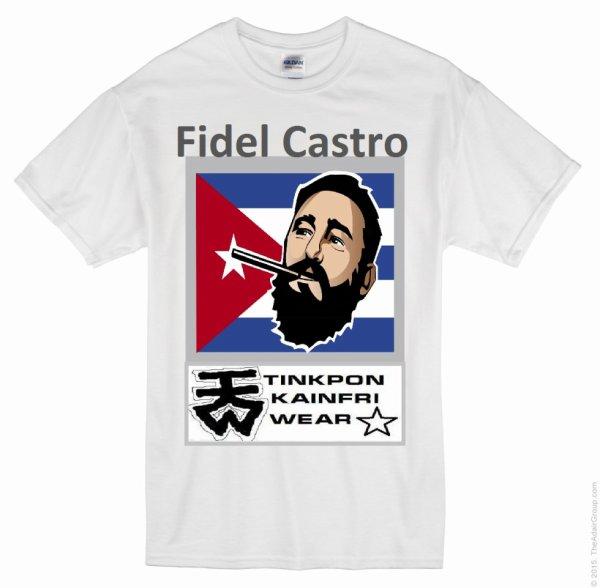 Teeshirt et débardeur et chemise homme et femme Fidel Castro disponible chez TINKPON KAINFRI WEAR nouvelle tendance révolutionnaire hand made in Benin