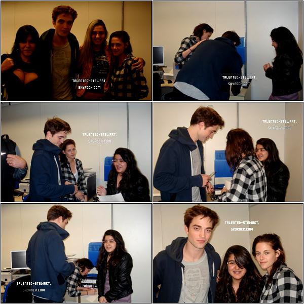 . 13/11/10-_Kris et Rob à l'aéroport pour quitter le Brésil, quelques fans ont eu le plaisir de les rencontrer.  .