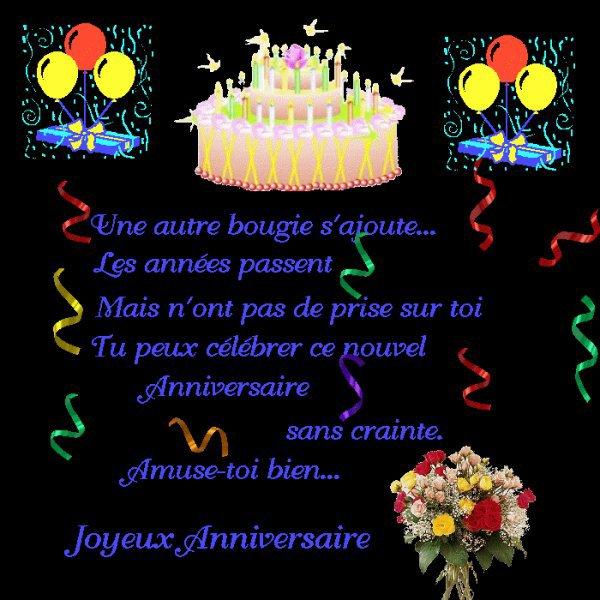 Happy birthday to you - Un anniversaire, un artifice de fleurs...pour ma soeur de coeur salima