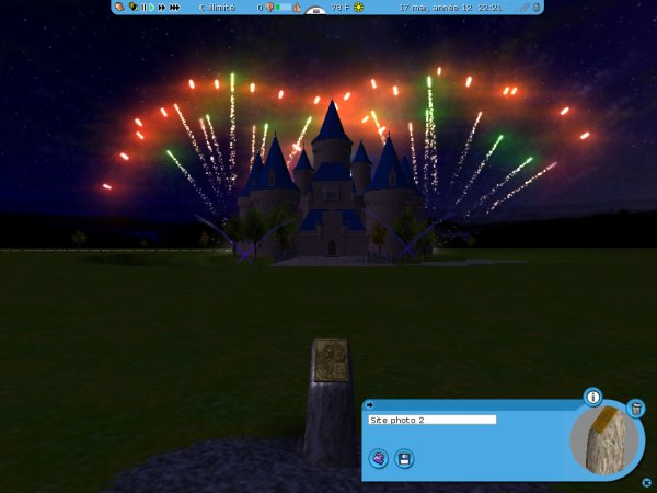 feu d'artifice magique
