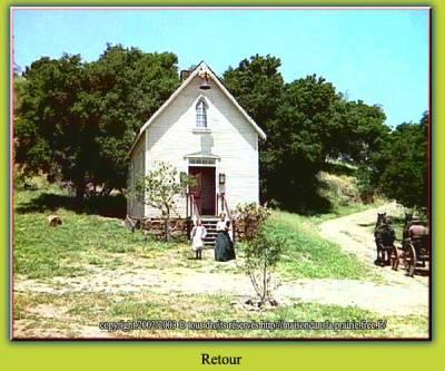 eglise la maison dans la prairie