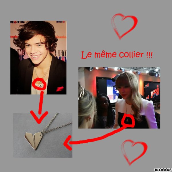 Harry et Taylor ont le même collier !