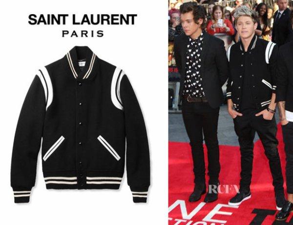 Niall Horan's Saint Laurent Varsity Jacket