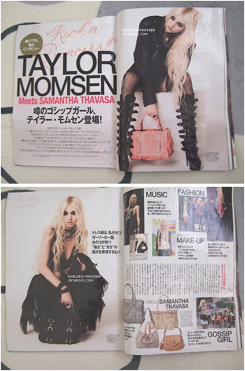 Tay' dans un magazine japonais pour Samantha thavasa.