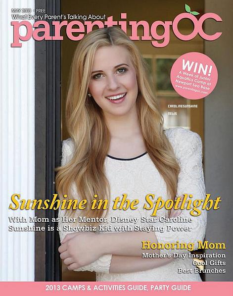 "• Caroline Sunshine apparaît dans le magazine ""Parenting OC Magazine""!"