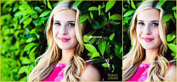 • Just Jared Jr dévoile enfin les nouvelles photos de Caroline Sunshine et de leurs interview!