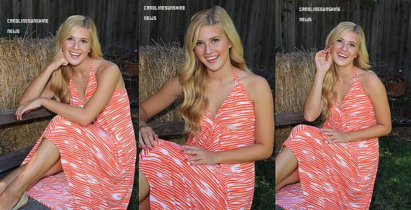 • De nouvelles photos de Caroline Sunshine de sa séance photo sont sorties!