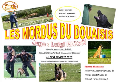 Concours en RING organisé par Les Mordus du Douaisis