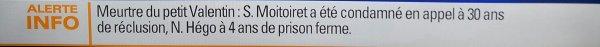 CE VENDREDI 22 NOVEMBRE 2013, LE VERDICT DU PROCÈS EN APPEL EST TOMBÉ..