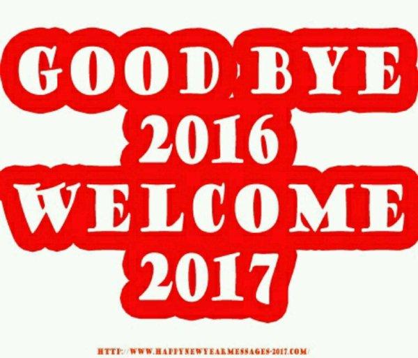Bye bye 2016 Bonjour 2017