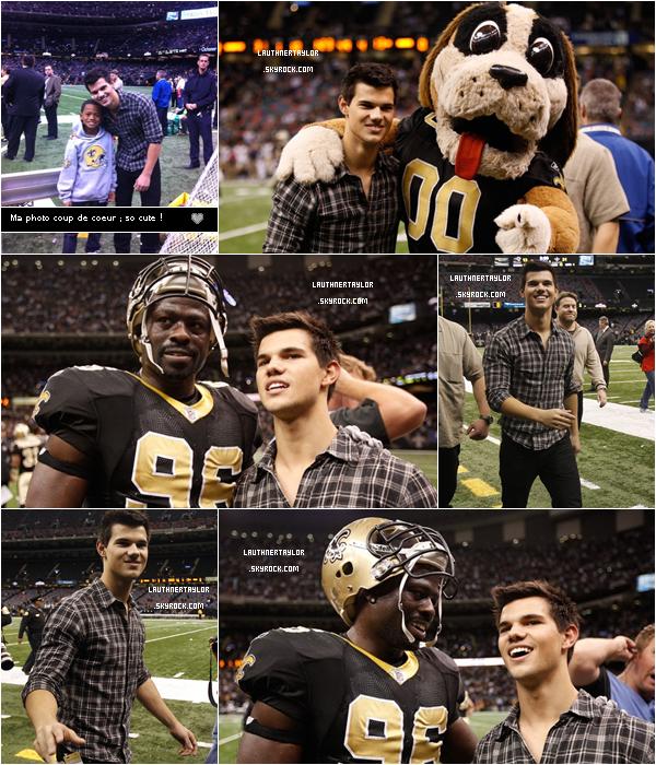 Dimanche 12 décembre : Taylor est encore présent à un match de football américain Ƹ̵̡Ӝ̵̨̄Ʒ › ` Ca devient une habitude , Taylor passe sa vie au stade de football !