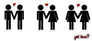 Article Premier Premier ♂ + ♀ = ♥  ♀ + ♀ = ♥  ♂ + ♂ = ♥    Gays/Lesbiennes , Hétéros ,