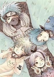 Naruto , Sasuke , Sakura , Kakashi