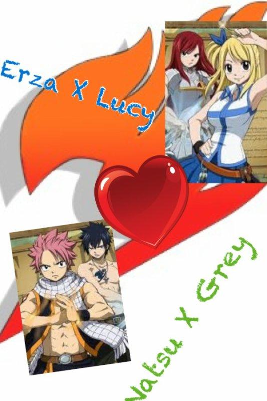 Natsu X Grey / Erza X Lucy