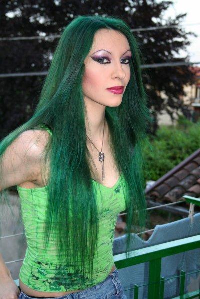 GREEN HAIR vert vert vert !!!