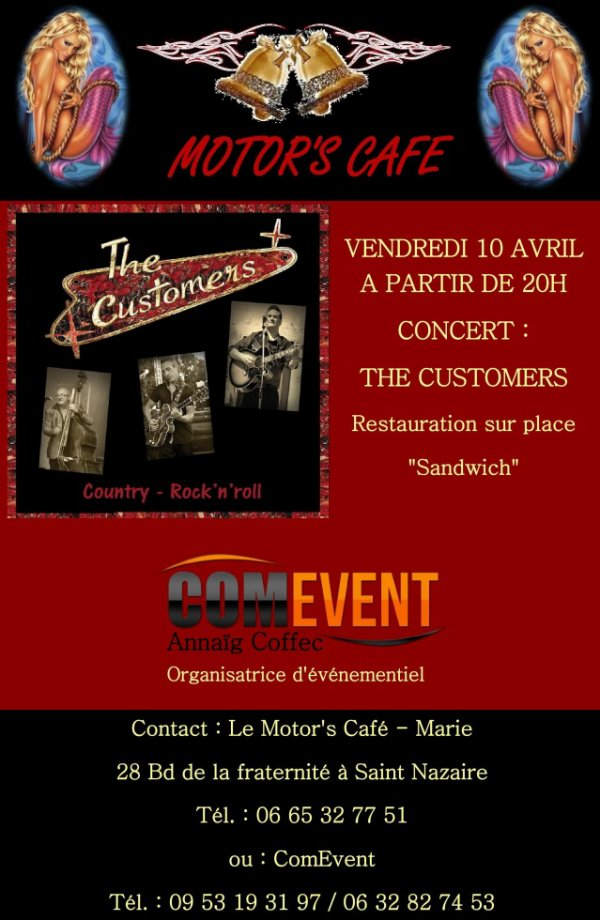 VENDREDI 10 AVRIL 2015 AU MOTOR'S CAFE SAINT NAZAIRE