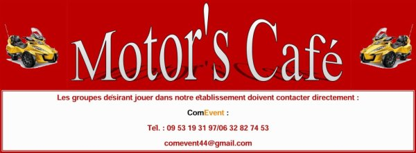 Retrouvez les concerts au Motor's Café