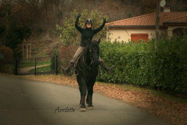 14 décembre : Froid, balade seule (sans chevaux)