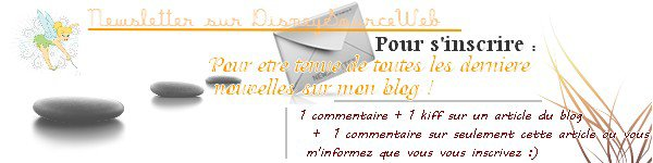 NEWSLETTER de DisneySourceWeb