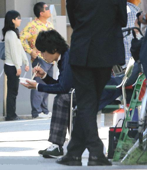 Kazuya en tournage