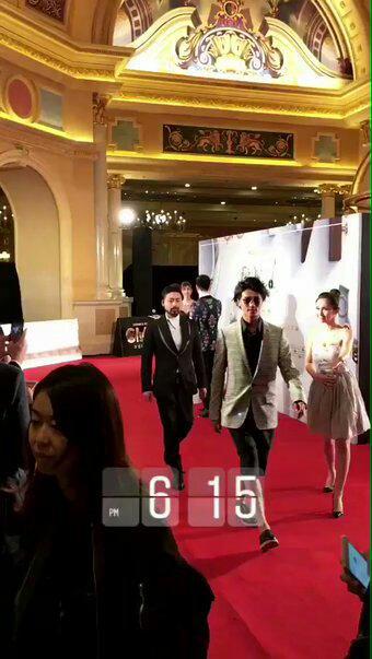 Jin à Macao, encore un tapis rouge !